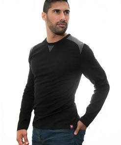 black-sweater-for-men-Stezzo-Vivere-Casual-Collection