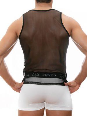 Camiseta-sin-mangas-de-malla-negro-para-hombres-stezzo-vivere