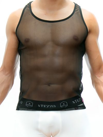 mesh-tank-top-black-for-men-stezzo-vivere