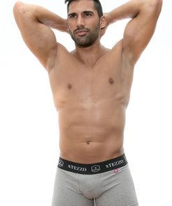 boxer-cinzento-para-homem-algodão-stezzo-vivere