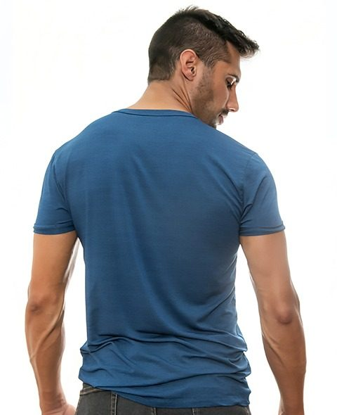 tshirt-blue-for-men-Stezzo-Vivere-Casual-Collection