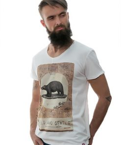 tshirt-white-wild-and-gentle-for-men-exclusive-design