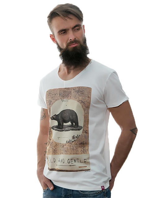 tshirt-white-wild-and-gentel-for-men-exclusive-design-stezzo-vivere