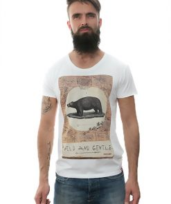 t-shirt-white-wild-and-gentle-for-men-exclusive-design