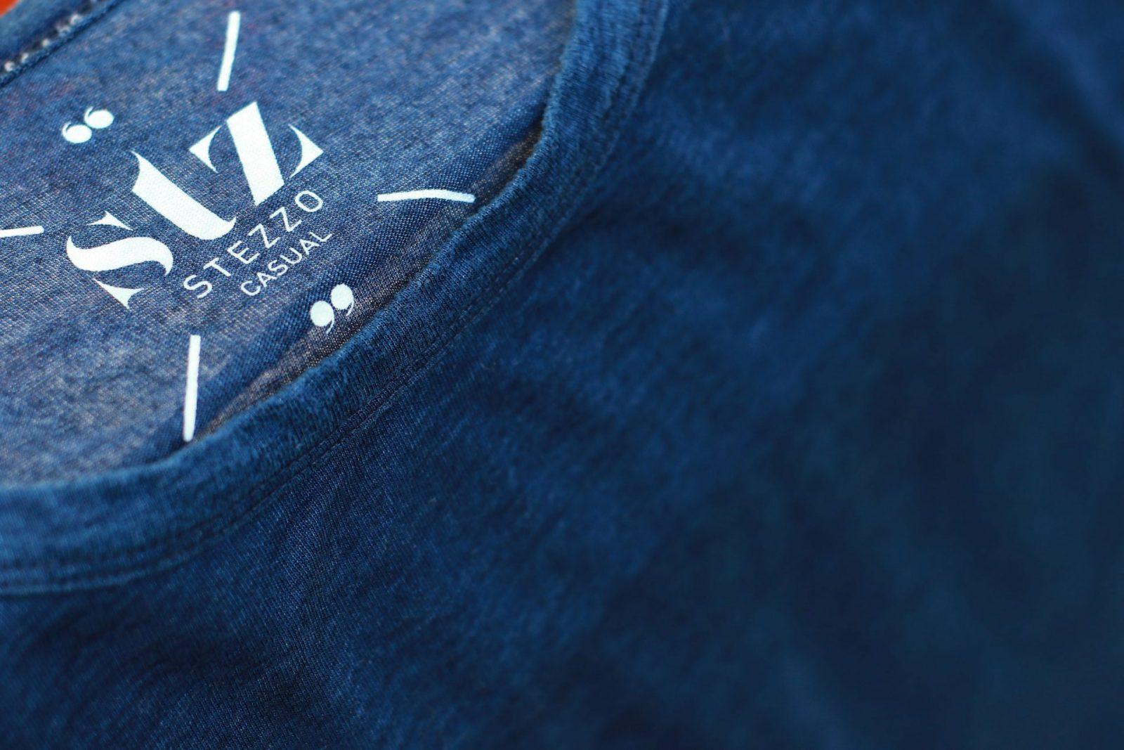 Indigo-T-shirt-Casual-collection-Stezzo-Vivere